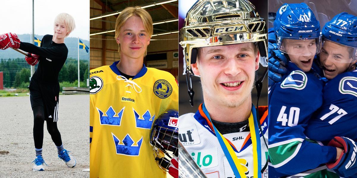 BILDEXTRA: Från Ångetalang till världens bästa liga – i natt kan Elias Petterson bli årets rookie i NHL