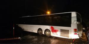 Skolbarnen blev hämtade innan räddningsstyrkorna kom fram till platsen. Foto: Privat.