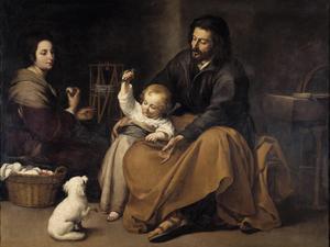 Bartolomé Esteban Murillos skildring av Jesus familj från 1650.