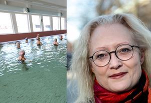 Oppositionsrådet Agneta Nyvall fortsätter kämpa för Tunets bad. Foto: Mikael Hellsten, Martin Lindström