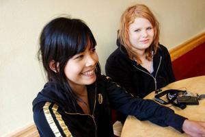 Wanwisa Singthongthat och Johanna Rinzen kommer med förslagen att toaletterna borde städas oftare och att lärarna borde prata med sina elever så alla kan hjälpas åt för att hålla toaletterna fräscha.