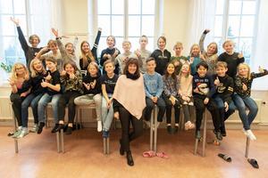 Hela klassen Kvintetten på Söderbaumska skolan.