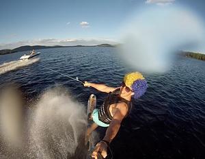 Uppladdning på Storsjön inför fotbolls VM. Foto: Robin Wedin