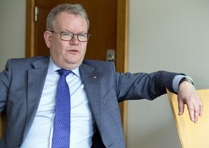 """""""Tiggeriet är förjävligt, en mänsklig tragedi. Men Västerås är ingen ensam solitär som kan lösa tiggarnas problem"""", sa Anders Teljebäck till VLT i april 2015, när Västerås hade stora utmaningar framför sig med hemlösa EU-migranter. Foto: Per G Norén"""