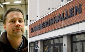 Olle Lundén, elitansvarig på förbundet, förklarar på vilka krav som ställs på Köping Stars om man vill upp i ligan. Foto: TT/Bblat