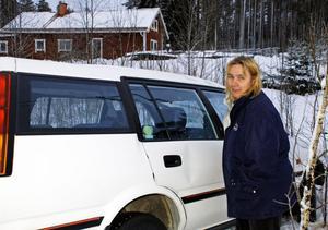 Oväntat besök vid tomtgränsen hemma hos Eva-Karin Sandberg.