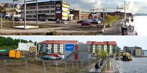 Norra kajens förvandling under nio år.