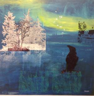Målning och screentryck av Ingela Bauer.