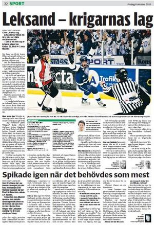 I en Sporten-artikel på hösten 2010 konstaterade färske A-lagsspelaren Jon Knuts att Leksand hade