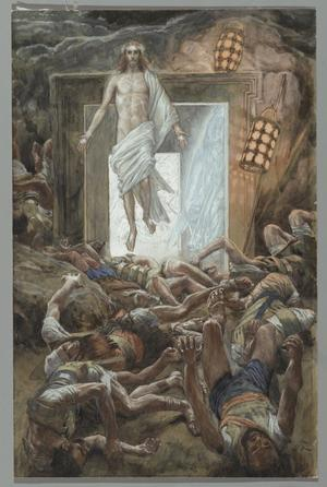 Jesus återuppstår. Målning av James Tissot från 1894.