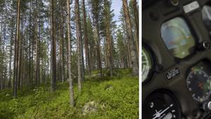 Dags för skogsägarna att hjälpa till i frågan om brandflygplan, hävdar skribenten. Bilder: Vidar Ruud/TT / Björn Olsson/TT