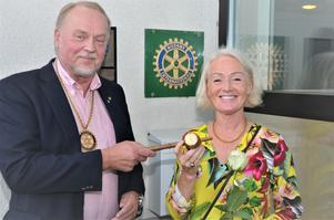 Göran Holmberg har tagit över efter Tina Järnland som ordförande i Anderstorps Rotaryklubb.