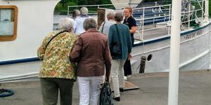 En tur med M/S Gustaf Wasa ingick i planerna för PRO Folkärna Krylbos hemliga resa.