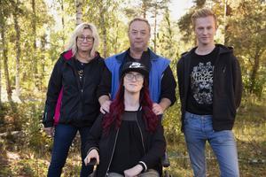 Carina, Morgan, Viktor och Linnéa.