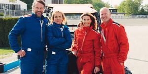 Peter Forsberg och Anja Pärson utmanas av Magdalena Forsberg och Tony Rickardsson på söndag. Foto: Dplay