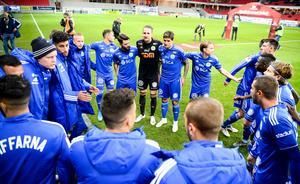 GIF Sundsvall-spelarna tror att segern mot Kalmar kan ge ytterligare ett lyft i fortsättningen. Bild: Patric Söderström/TT