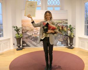 Årets företagare blev Lina Nettelblad som driver Mattipset i Skara AB. Foto: Skara kommun