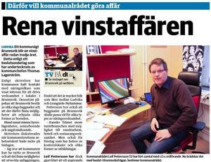 Nya Ludvika Tidning den 20 november 2014.