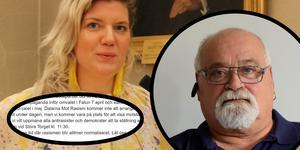 Angelica Andersson och Kent Forschner-Hell är långt ifrån överens.