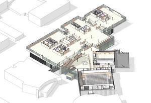 Våning 2. Bibliotekslokaler och