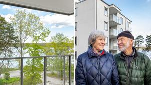 Barbro och Leif Zäll lämnar villan med jättetomt mot en charmig bostadsrätt vid Mälarens strand.