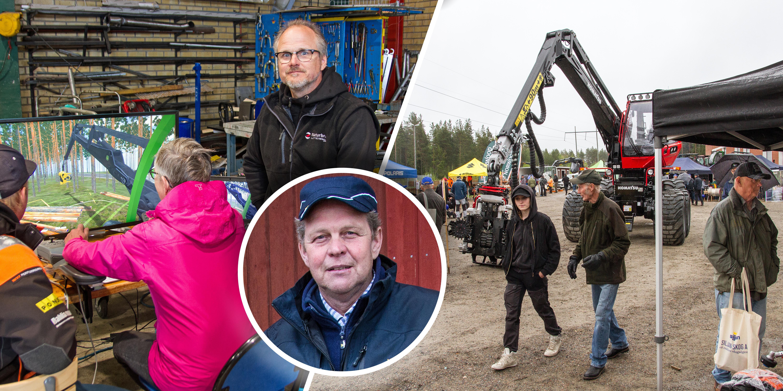 Mässa för skogsägare – arrangören nöjd trots regnet: