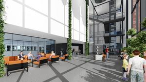 Så här kan Hagaskolan se ut i framtiden. Bild: Johan Skoog, Arkitekter
