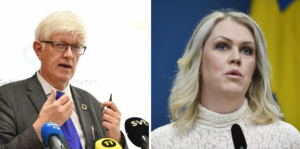 Johan Carlson och Lena Hallengren.