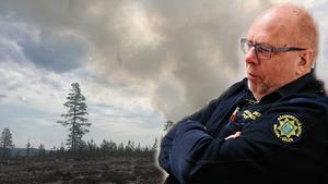 Räddningschefen Per Hampus. Bilden är ett montage.