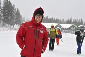 Fredrik Rydén trotsar snöyran och det gör också snowboardgänget från Malungs skidgymnasium.