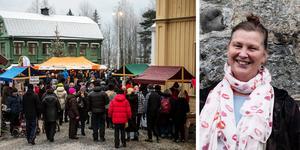 Paulin Norgren, projektledare för Murbergets julmarknad svarar nu insändarna kring den nya inriktningen och menar att museet vill förstärka känslan av en gammeldags julmarknad. Foto: Linnea Hellgren och Hanna Persson. Montage: Birgitta Strandh.