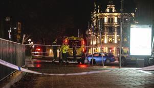 Vilken typ av skjutvapen som använts vid dubbelmordet vill polisen än så länge inte gå ut med. Foto: Niklas Luks/TT
