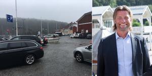 """""""Q-park har tagit över parkeringen, men inte hunnit få upp några automater än"""", säger Jens Halvarsson på Stadsrum fastigheter."""