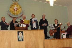 Frälsningsarméns 1:a kår i Stockholm framträdde i Nynäshamn. Foto: Max Möllerfält