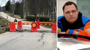 Tord Jonsson och hans kollegor på Svevia håller vägnätet i Ånge kommun under uppsikt.