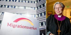 Biskop Eva Nordung Byström stöder  kampen för de asylsökande konvertiternas rättigheter.