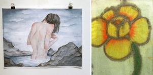 Måleri av Anna Hansson och blomstermotiv av Tobas Wassberg.