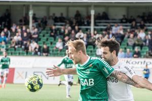 Anton Lundin fick Brages bästa målchans i matchen. Skyttekungen missade dock straffen.