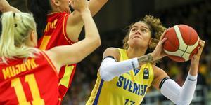 Amanda Zahui var poängbäst i den svenska landslaget när Sverige vann mot Montenegro.
