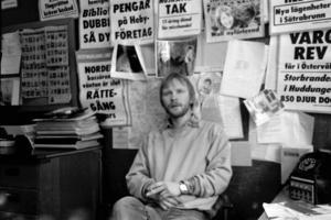 Mats Wikman, journalist i Sala anno 1985.