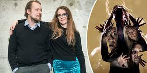 """Oskar Thunberg och Paula Stenström Öhman jobbar med Örebro länsteaters nya föreställning """"Blue air"""". Foto: Lars Pehrson / SvD / TT / Mats Bäcker (bilden är ett montage)"""