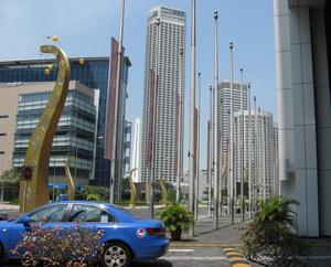 Suntec City affärsdistrikt, Singapore.
