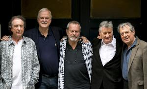 Eric Idle, John Cleese, Terry Gilliam, Michael Palin och Terry Jones. Gaham Chapman gick bort redan 1989. Foto: John Phillips Invision, AP.