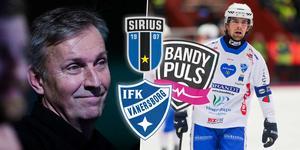 Sirius tränare Esa Määttä och Vänersborgs försvarsboss Simon Blomqvist.