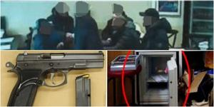 Personer sammanstrålar på hotellet för att göra upp en vapenaffär – allt slutade i skottlossning och polisingripande. Nu döms fyra personer. Foto: Ur förundersökningen.