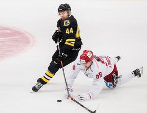 Erik Nyström har gjort mycket poäng i allsvenskan förut, men den här säsongen har börjat trögt för Panternforwarden. Foto: Mathilda Ahlberg / Bildbyrån