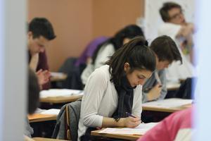 Koncentrerade studenter. Foto: Fredrik Persson / SCANPIX /