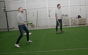Alltid två i samma lag. Det gör padel till en social sport, tycker Nicklas Olivensjö och Andreas Isaksson.