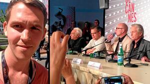 Erik Dalström(till vänster) på plats i Cannes.