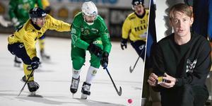 Filip Skoglund i duell med dåvarande Hammarbyspelaren Alan Dzhusoev på annandagen 2017. Bild: TT / IK Tellus